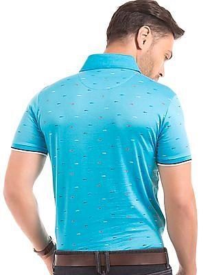 Izod Shark Print Slim Fit Polo Shirt