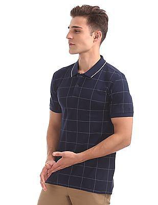 Arrow Newyork Regular Fit Check Polo Shirt