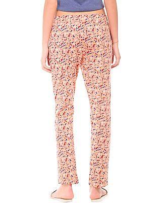 SUGR Drawstring Waist Printed Lounge Pants