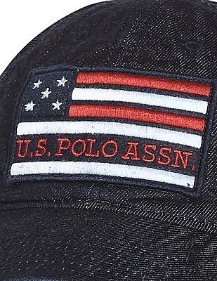 U.S. Polo Assn. Blue Flag Applique Denim Cap