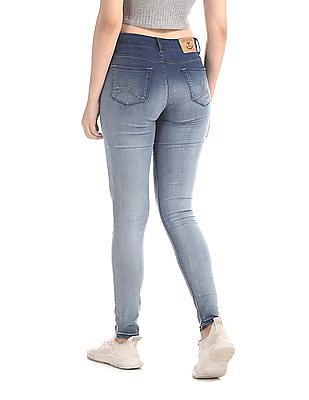 Cherokee Blue Skinny Fit Mid Rise Jeans