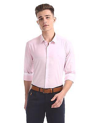USPA Tailored Slim Fit Pinstripe Shirt