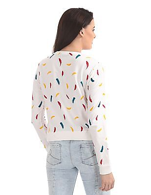 SUGR Printed Crew Neck Sweatshirt