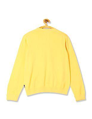 U.S. Polo Assn. Kids Boys Long Sleeve Solid Sweater