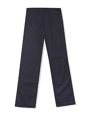 Arrow Woman Flat Front Solid Trousers