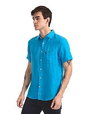 U.S. Polo Assn. Short Sleeve Linen Shirt