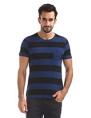 Flying Machine Slim Fit Striped T-Shirt