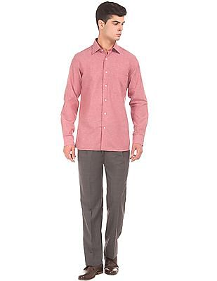 Arrow Long Sleeve Cotton Linen Shirt