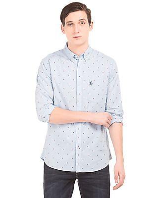 U.S. Polo Assn. Dobby Weave Cotton Shirt