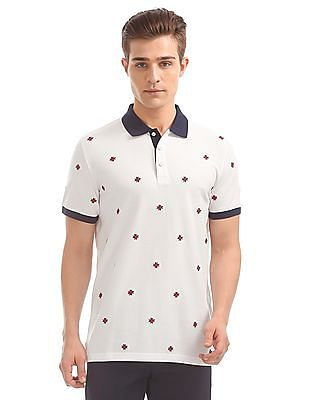 Gant Star Embroidered Pique Short Sleeve Rugger Polo