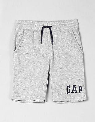 GAP Grey Toddler Boy Logo Knit Shorts