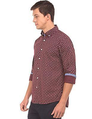 Nautica Button Down Printed Shirt