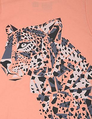 FM Boys Boys Leopard Print Slim Fit T-Shirt