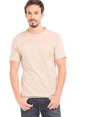 Cherokee Mesh Overlay Slub Knit T-Shirt