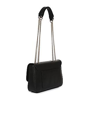 GUESS Linked Metal Chain Structured Hand Bag
