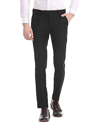 USPA Tailored Slim Fit Pleated Front Trousers