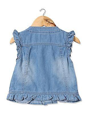 Cherokee Girls Appliqued Denim Jacket