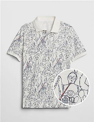 GAP Boys Star Wars™ Short Sleeve Polo Shirt
