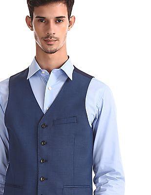Arrow Blue Peak Lapel Collar Three Piece Suit