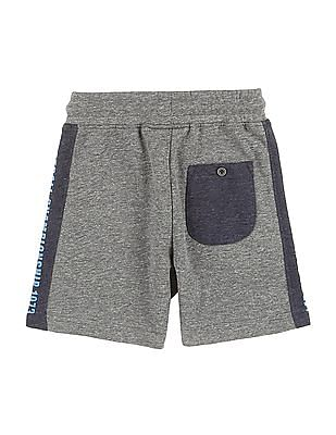 Cherokee Boys Heathered Drawstring Waist Shorts