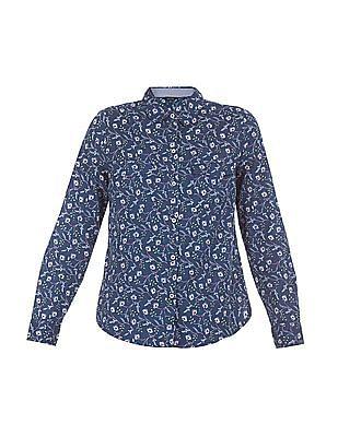 Nautica Leaf Printed Classic Fit Shirt