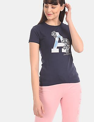 Aeropostale Blue Crew Neck Brand Applique T-Shirt
