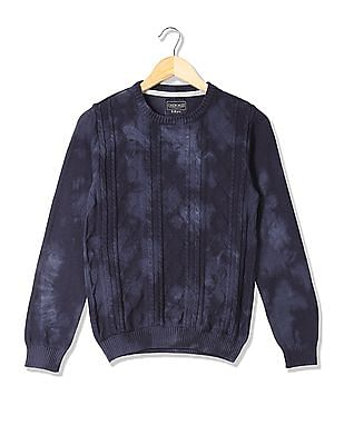 Cherokee Boys Cable Knit Crew Neck Sweater