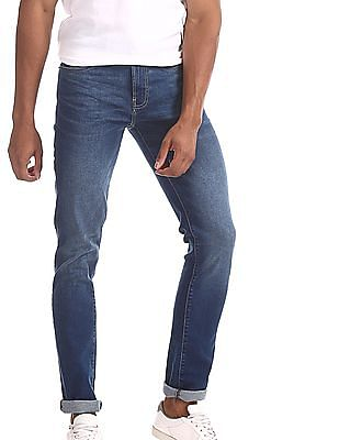 Arrow Blue Jeans Company Blue Justin Skinny Fit Stone Wash Jeans