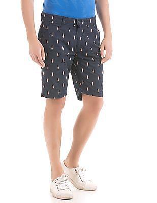 Izod Popsicle Print Slim Fit Shorts