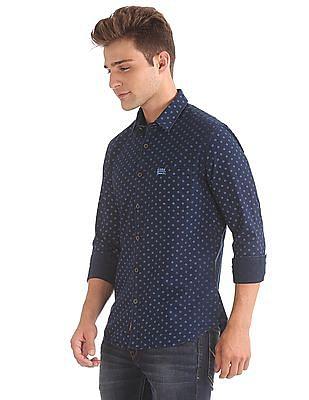U.S. Polo Assn. Denim Co. Slim Fit Tonal Print Shirt
