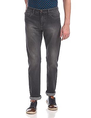 Newport Straight Fit Washed Jeans