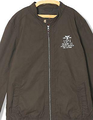 U.S. Polo Assn. Denim Co. Zip Up Solid Jacket