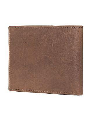 Flying Machine Textured Leather Bi-Fold Wallet