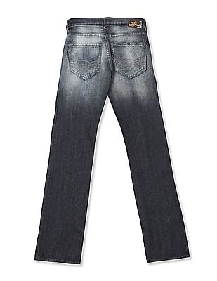 Flying Machine Eddie Slim Straight Fit Mid Rise Jeans