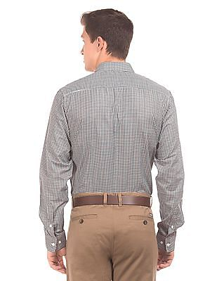 Excalibur Semi Cutaway Collar Checked Shirt