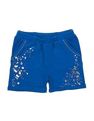 Cherokee Girls Foil Print Knit Shorts