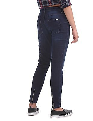 Flying Machine Women Super Skinny Fit Washed Jeans