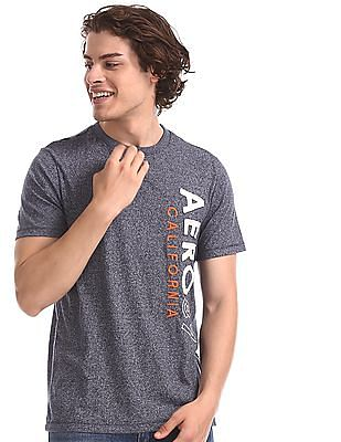 Aeropostale Grey Crew Neck Brand Applique T-Shirt