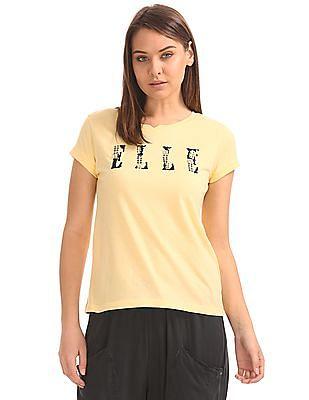 Elle Embellished Regular Fit T-Shirt