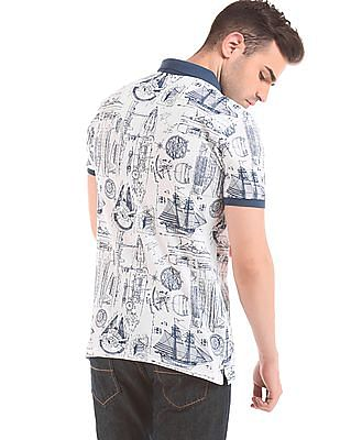 Cherokee Printed Muscle Fit Polo Shirt
