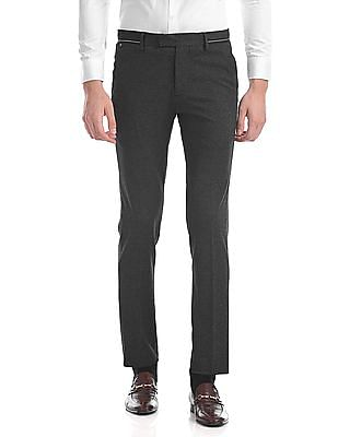 USPA Tailored Super Slim Fit Heathered Trousers