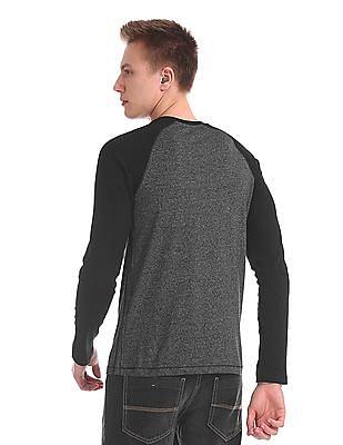 Cherokee Raglan Sleeve Henley T-Shirt