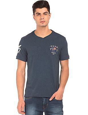 U.S. Polo Assn. Denim Co. Short Sleeve V-Neck T-Shirt