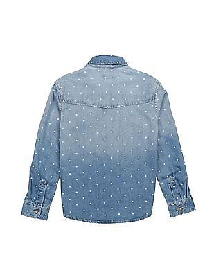 U.S. Polo Assn. Kids Boys Regular Fit Star Print Shirt
