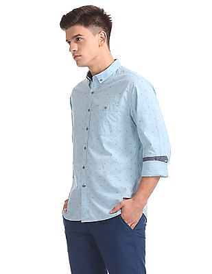 Cherokee Button Down Collar Printed Shirt