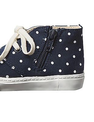 GAP Baby Blue Disney Mickey Mouse And Dots Sneakers