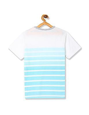 The Children's Place Blue Boys Short Sleeve Pocket Stripe Tee