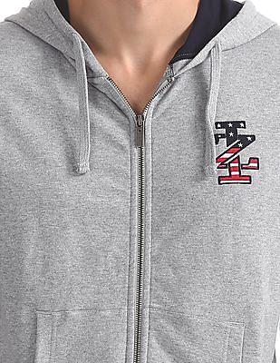 Izod Zip Up Heathered Sweatshirt