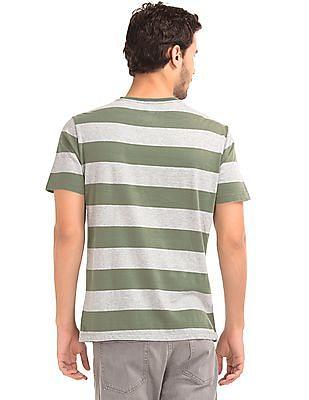 GAP Vintage Wash Heathered Rugby Stripe T-Shirt