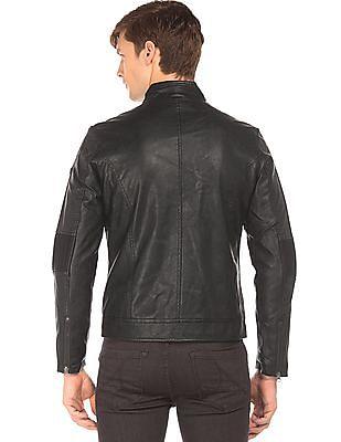 Ed Hardy Lightly Padded Panelled Biker Jacket